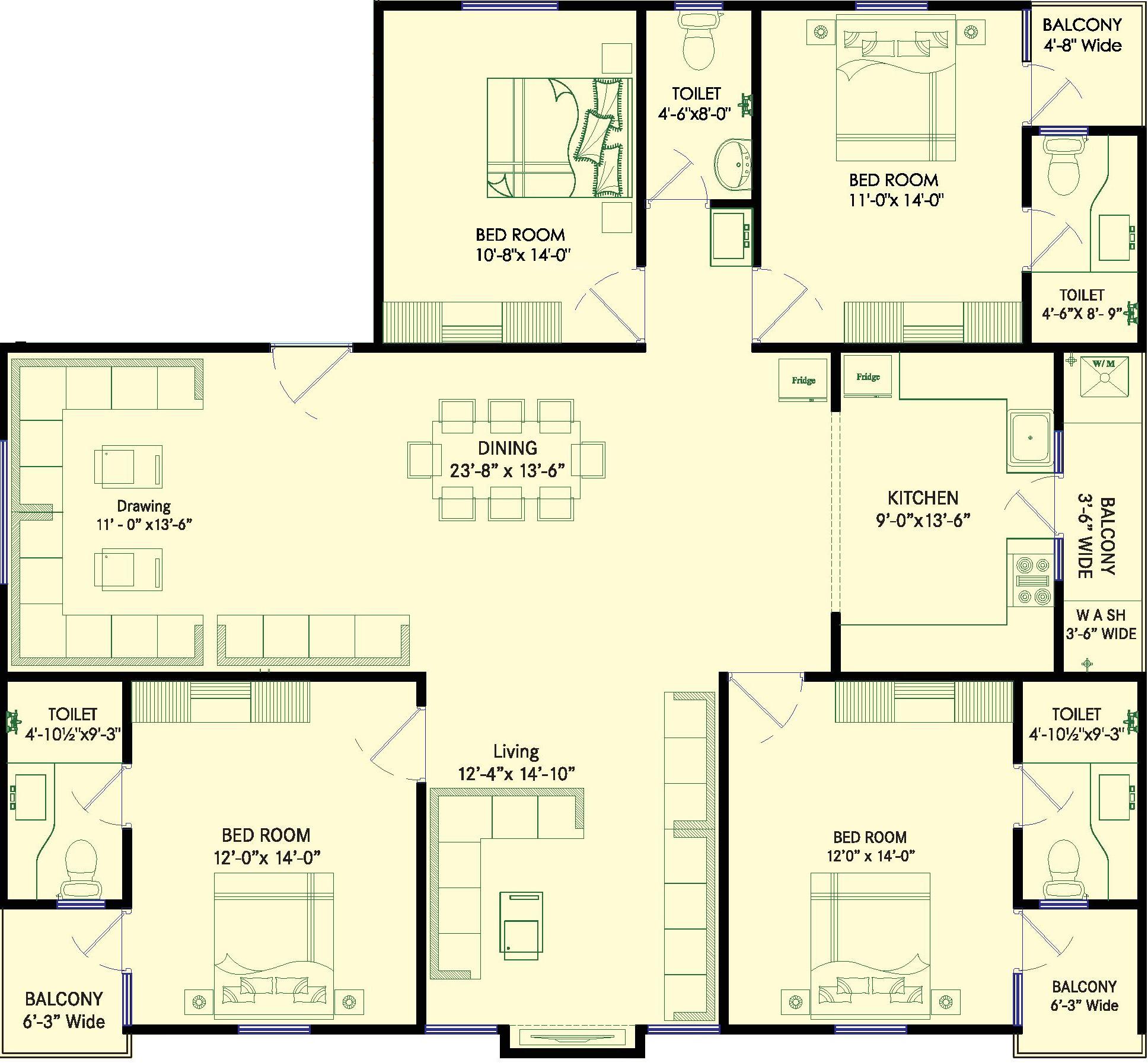 Moghal friends residency in manikonda hyderabad price for X2 residency floor plan