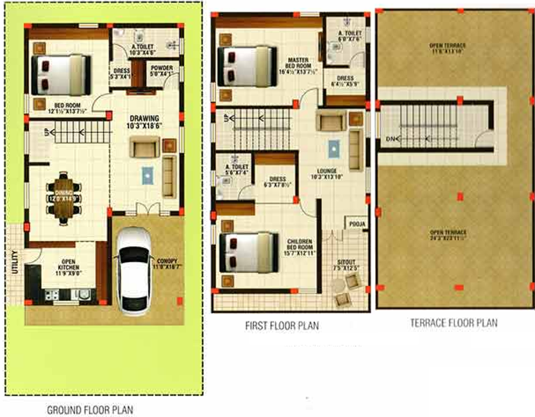 2485 Sq Ft 3 Bhk 4t Villa For Sale In Sv Star Homes Ville