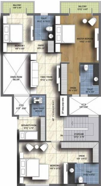 Unitech Resorts (4BHK+4T (3,597 sq ft)   Servant Room 3597 sq ft)