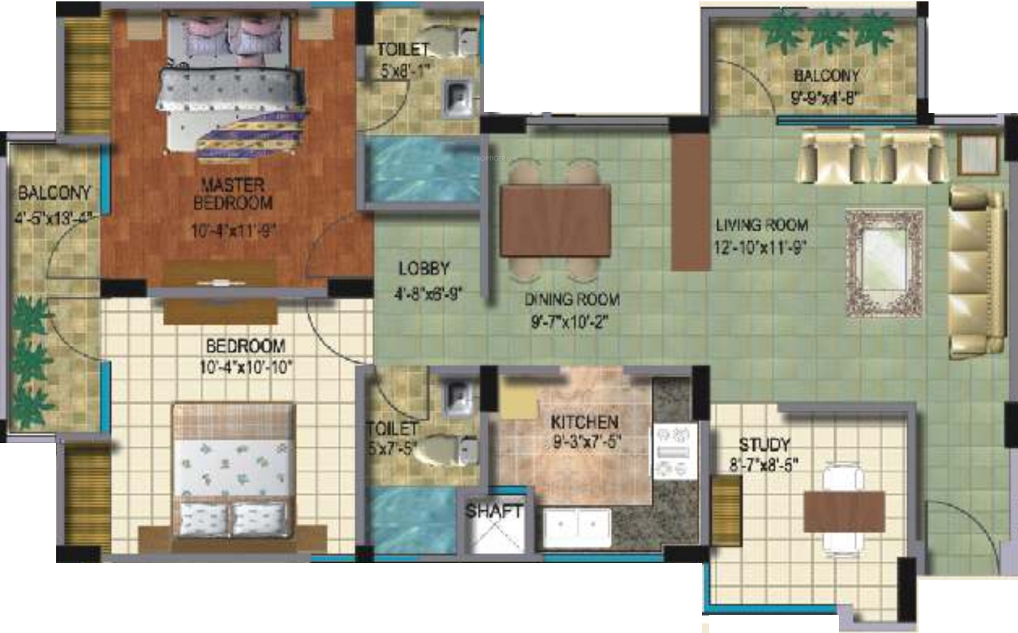 1190 Sq Ft 2 Bhk 2t Apartment For Sale In Supertech
