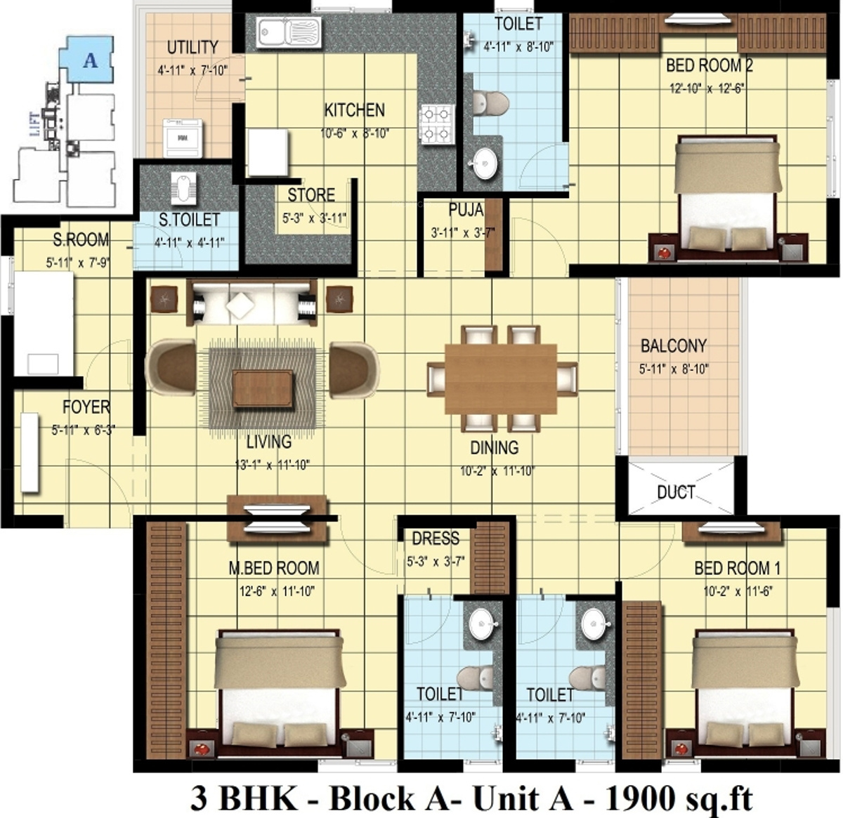 1900 sq ft 3 bhk 3t apartment for sale in rainbow for 1900 sq ft