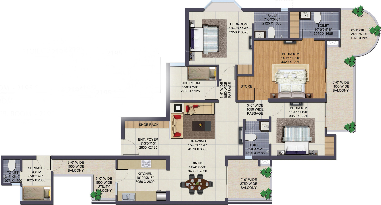 Ajnara Klock Tower In Sector 74 Noida Price Location Map Floor Plan Reviews Proptiger Com