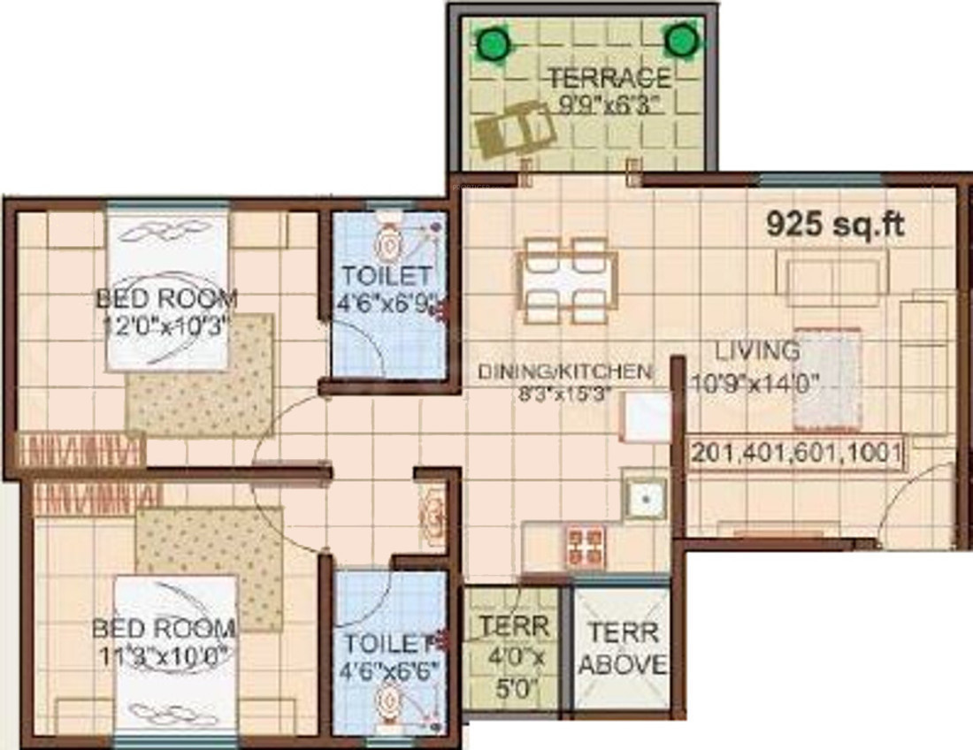 925 Sq Ft 2 Bhk 2t Apartment For Sale In Ideal Groups