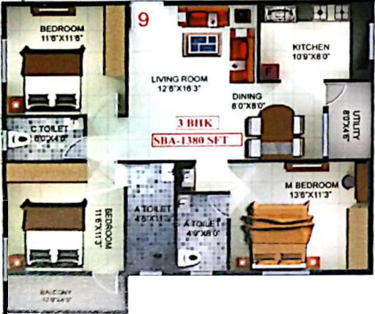 Sri windsor homes in kr puram bangalore price location for Windsor homes floor plans