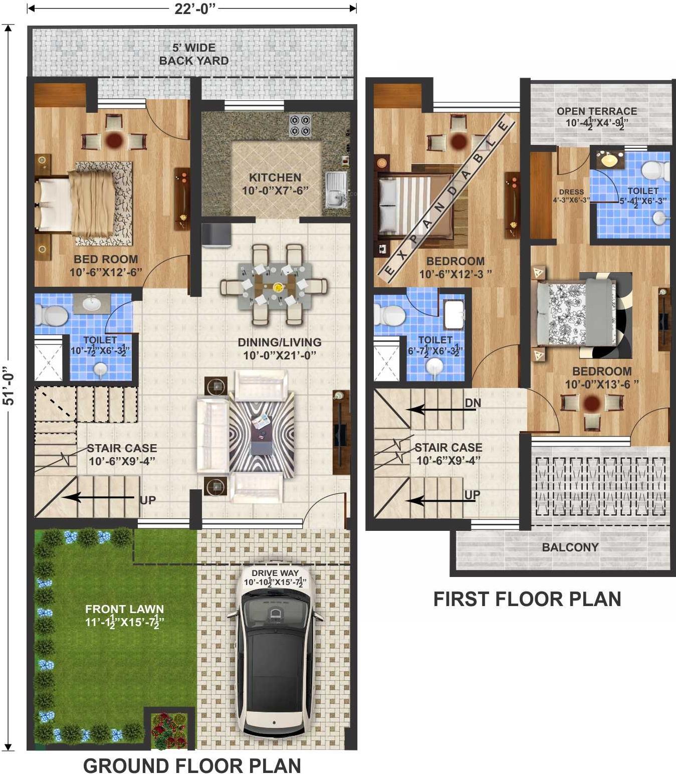 Sai expandable villas in gomti nagar lucknow price for Expandable floor plans
