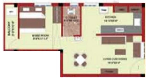 576 Sq Ft 1 BHK 1T Apartment For Sale In Shree