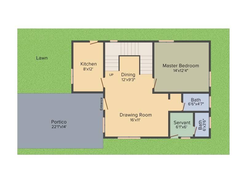 Modi Sterling Homes (3BHK+4T (2,075 sq ft)   Study Room 2075 sq ft)