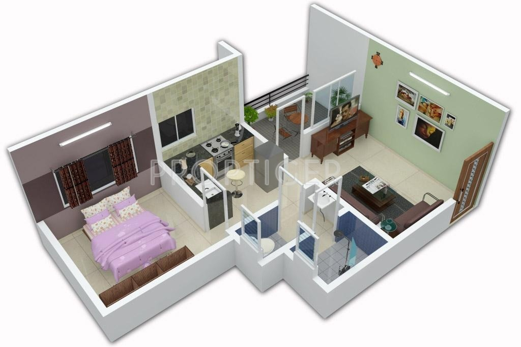 540 sq ft 1 bhk 1t apartment for sale in kalki developers