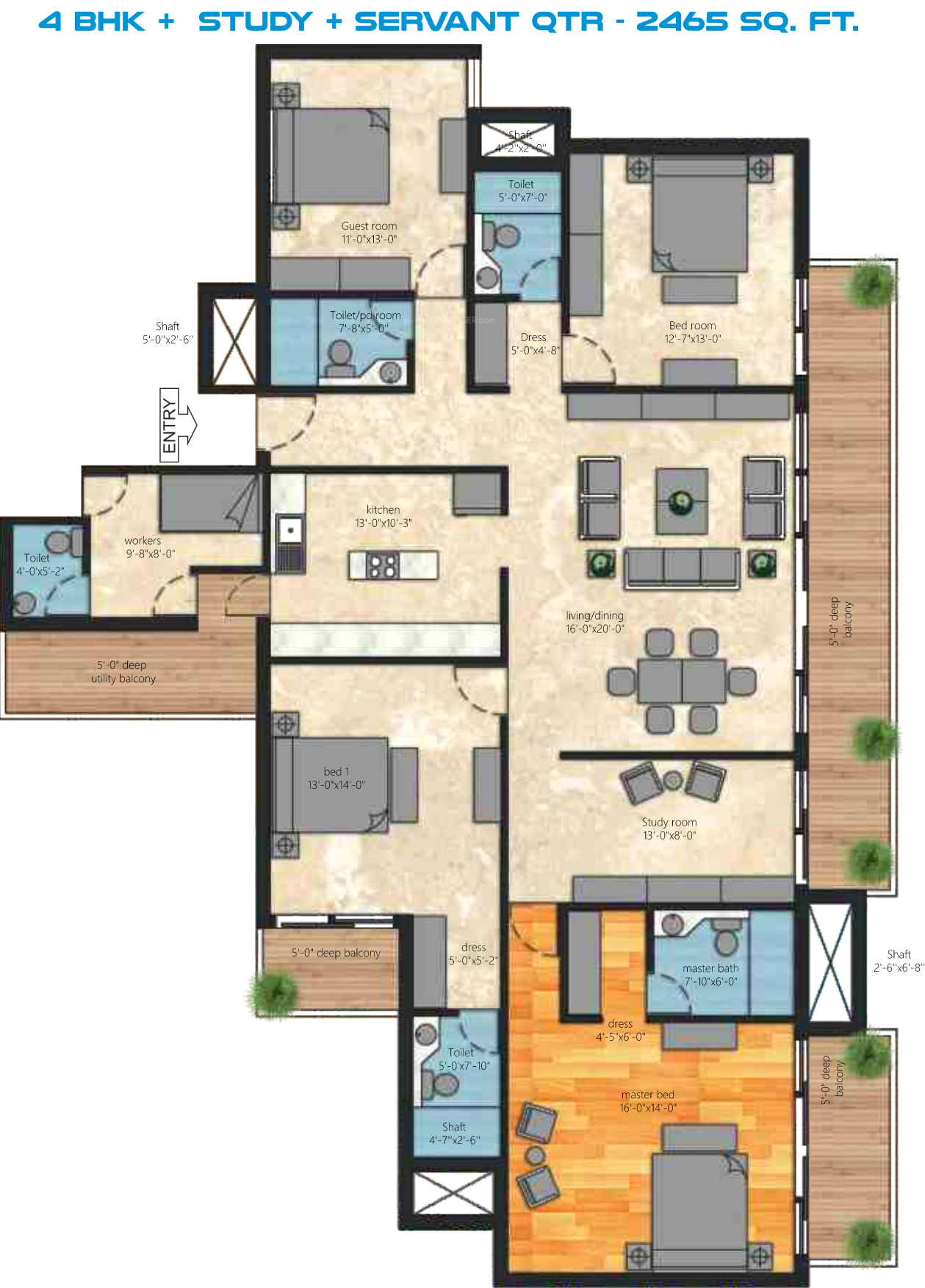2465 sq ft 4 bhk 4t apartment for sale in iramya passion for 4 bhk plan layout