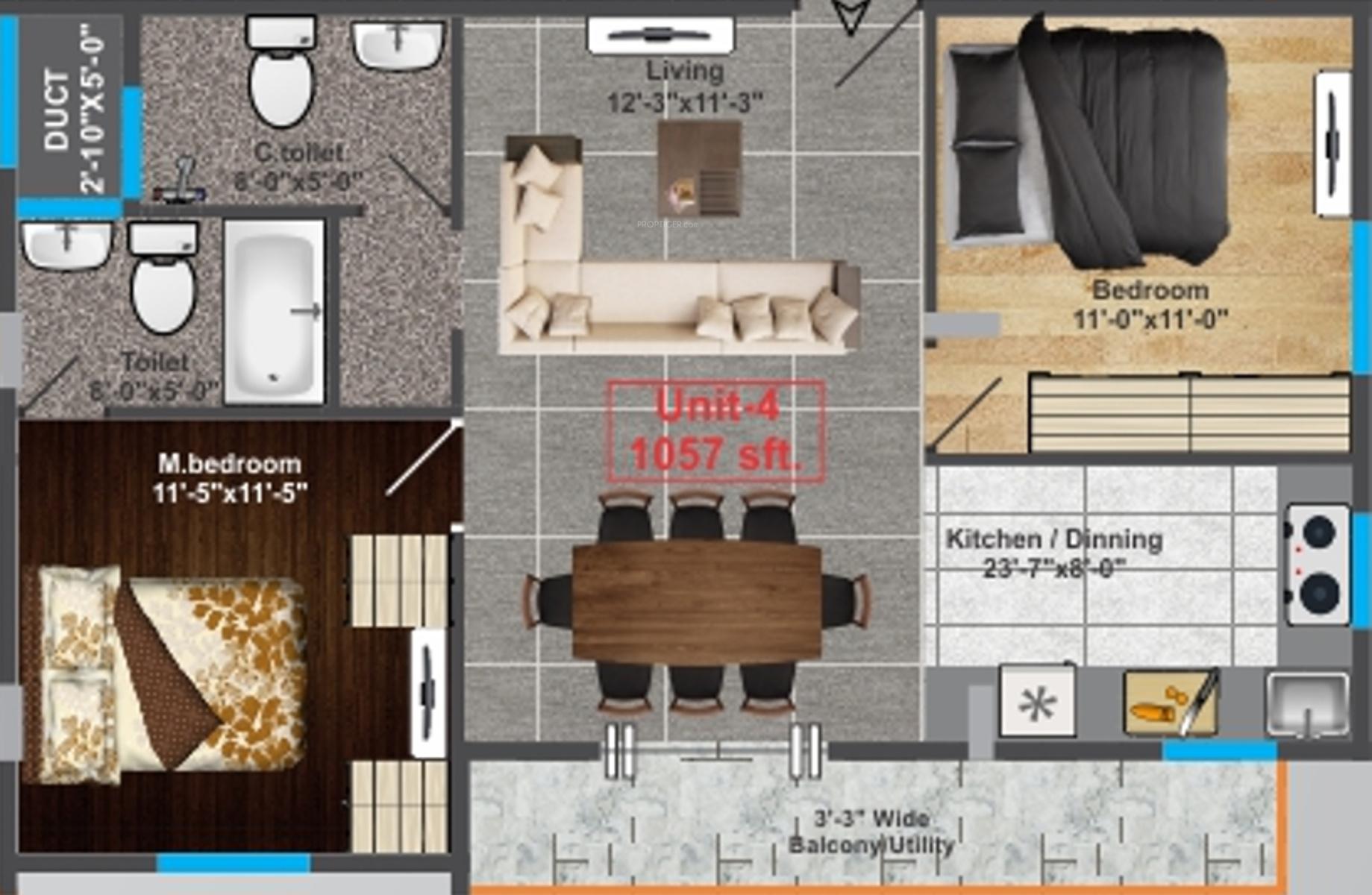 Fateh perfect casa bella in nagarbhavi bangalore price for Casa bella floor plan