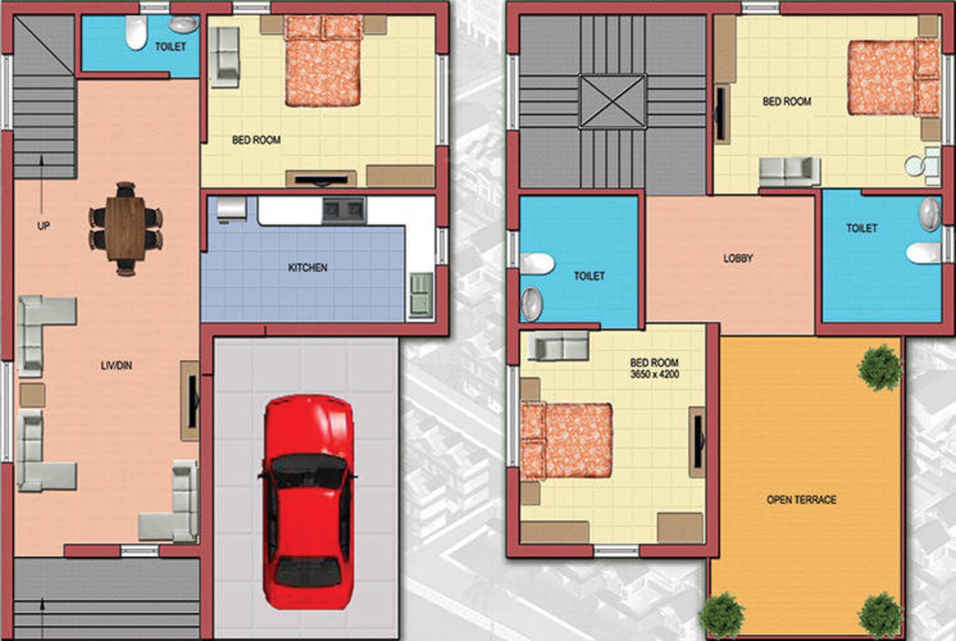 770 Sq Ft 2 Bhk 2t Villa For Sale In Aspirana Infraventure