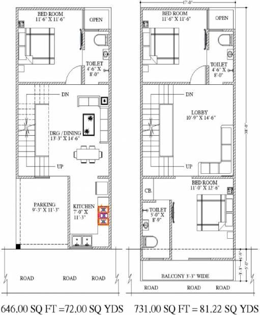 Aarvanss Independent Luxurious Villas (3BHK+3T (1,377 sq ft) 1377 sq ft)