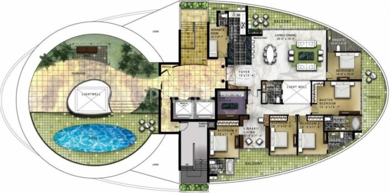 Omaxe Twin Towers (5BHK+4T (4,464 sq ft) + Servant Room 4464 sq ft)
