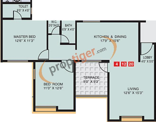 1073 sq ft 2 bhk 2t apartment for sale in ps developers for Apartment plans as per vastu