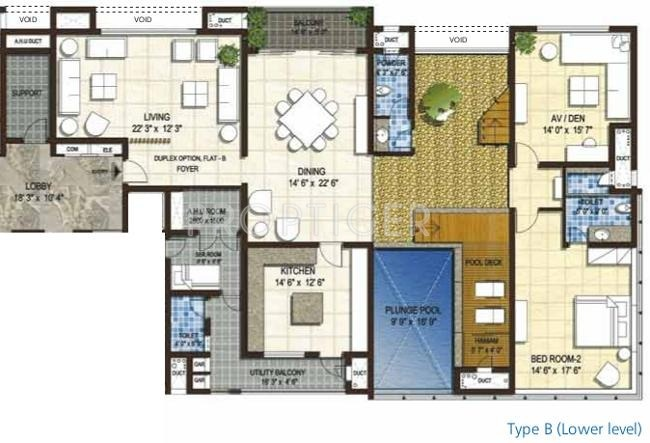 6500 Sq Ft 4 Bhk 6t Apartment For Sale In Olympia Sky