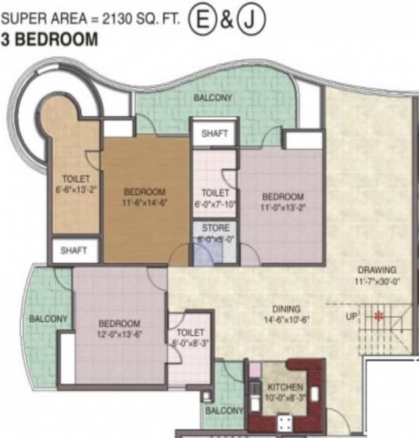 Sethi Group Park Sapphire (3BHK+3T (2,130 sq ft) 2130 sq ft)
