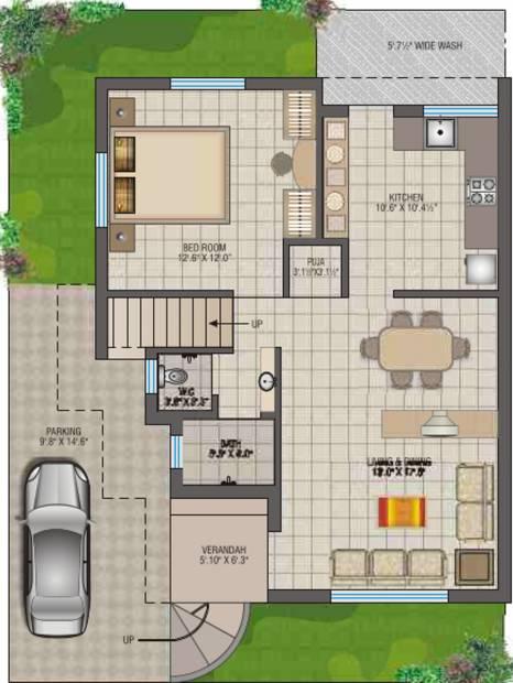 CJ Ganesh Shrusti (3BHK+3T (1,456 sq ft) + Pooja Room 1456 sq ft)
