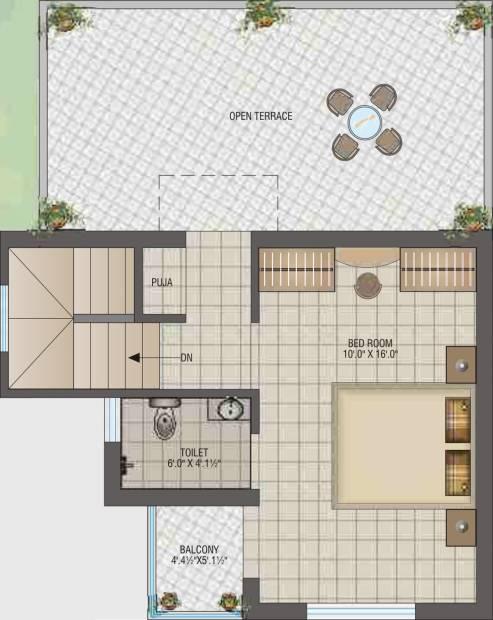 CJ Ganesh Shrusti (2BHK+2T (839 sq ft) + Pooja Room 839 sq ft)