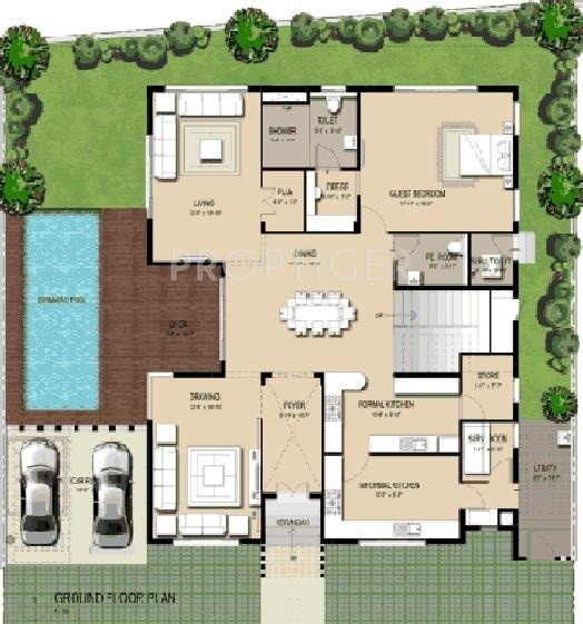 4000 sq ft 3 bhk 3t villa for sale in amara group ananta for 4000 sq ft modular homes