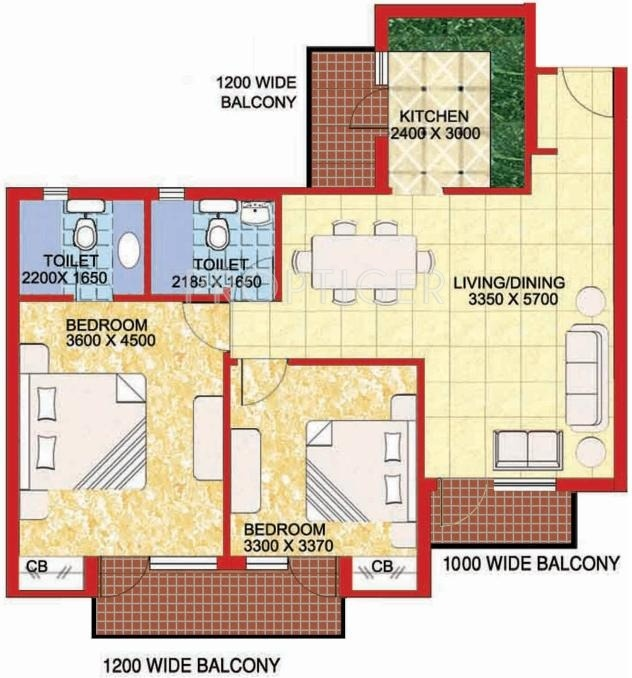 1150 sq ft 2 bhk 2t apartment for sale in omaxe residency for X2 residency floor plan