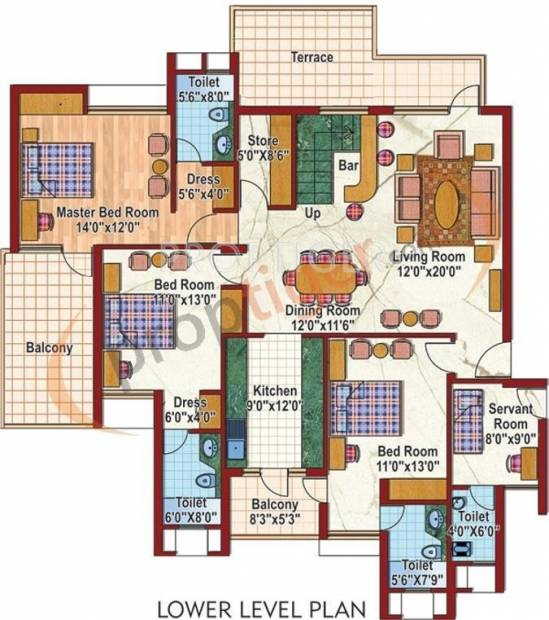 Purvanchal Silver City 2 (5BHK+6T (2,950 sq ft)   Servant Room 2950 sq ft)