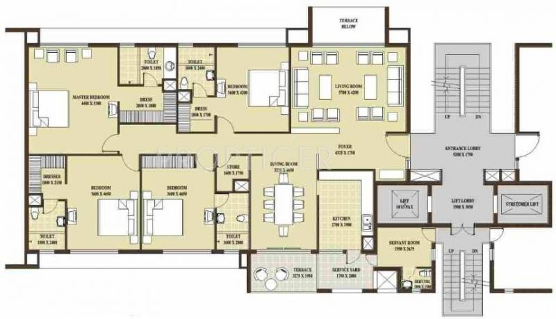 2500 sq ft 4 bhk floor plan image rohtas presidential for 2500 sq ft apartment plans