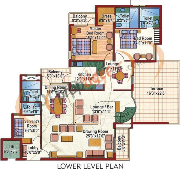 Purvanchal Silver City 2 (5BHK+7T (3,750 sq ft)   Servant Room 3750 sq ft)