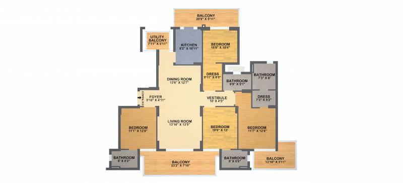 DLF Ultima (4BHK+5T (2,700 sq ft) + Servant Room 2700 sq ft)