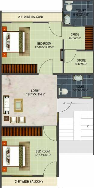 NK Vrindapuram Villa (3BHK+4T (1,718 sq ft) 1718 sq ft)