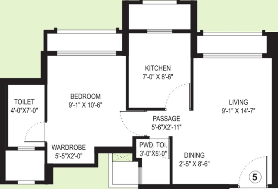 Hiranandani Solitaire Studio Apartment By Hiranandani Developers