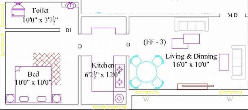RR Santhosam (1BHK+1T (521 sq ft) 521 sq ft)