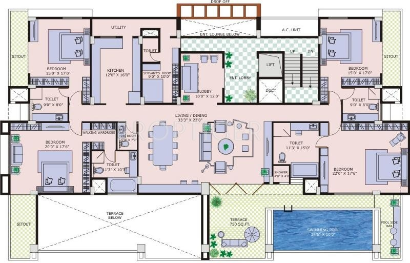 Marvel realtors coronet in sangamvadi pune price for Floor plans 5000 sq ft