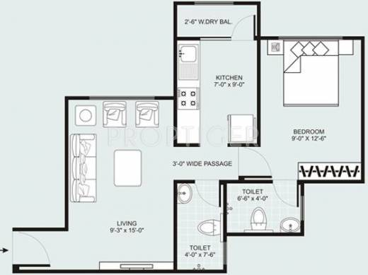 790 Sq Ft 2 Bhk 2t Apartment For Sale In Mirchandani