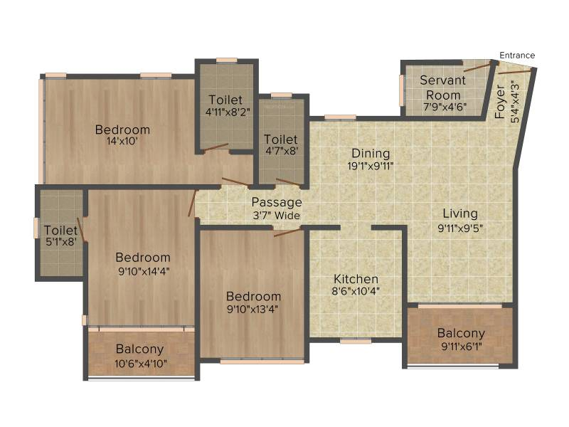 Ideal Ideal Heights (3BHK+3T (1,750 sq ft) 1750 sq ft)
