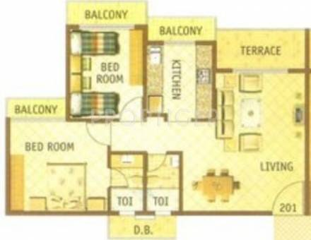 1155 sq ft 2 bhk 2t apartment for sale in giriraj for Oscar plans