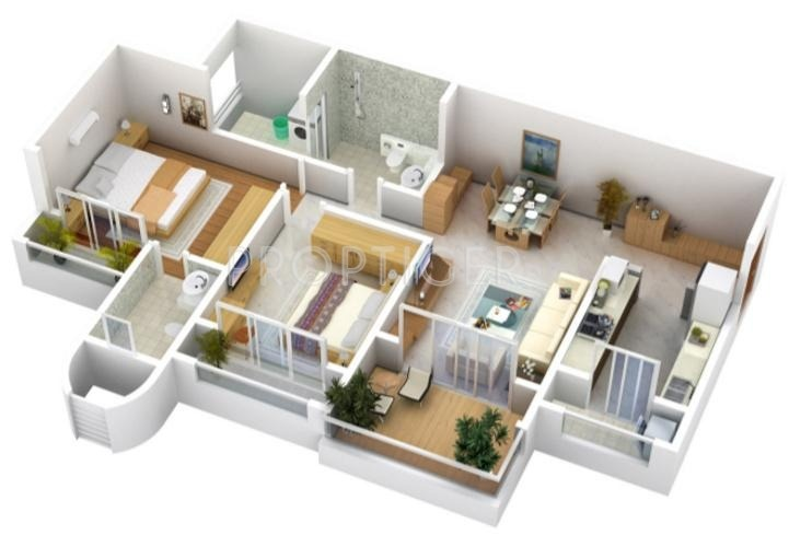 Mohan Altezza (2BHK+2T (1,295 sq ft) 1295 sq ft)