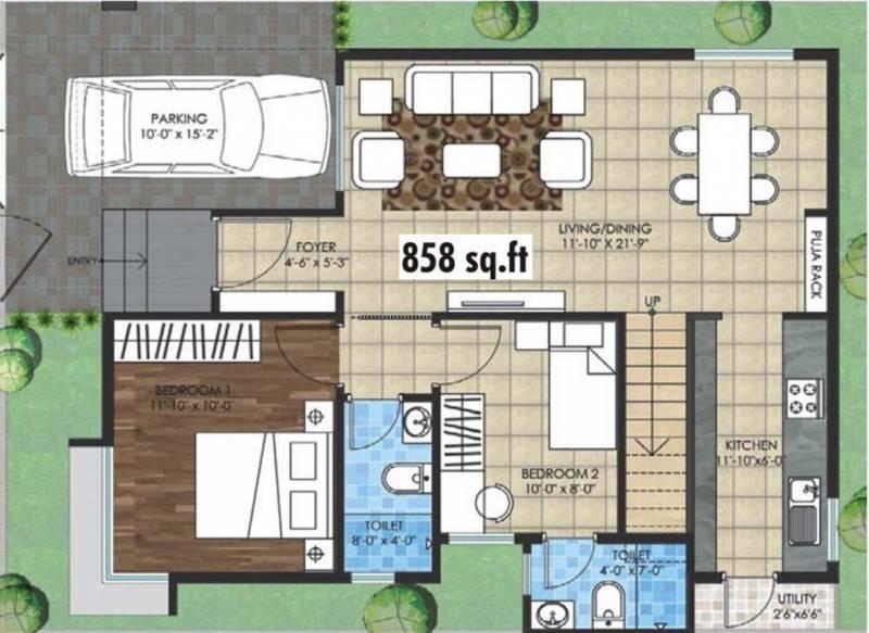 Yesh Farm Villas (2BHK+2T (858 sq ft) + Pooja Room 858 sq ft)