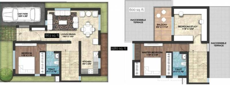 Yesh Farm Villas (3BHK+2T (1,580 sq ft) 1580 sq ft)