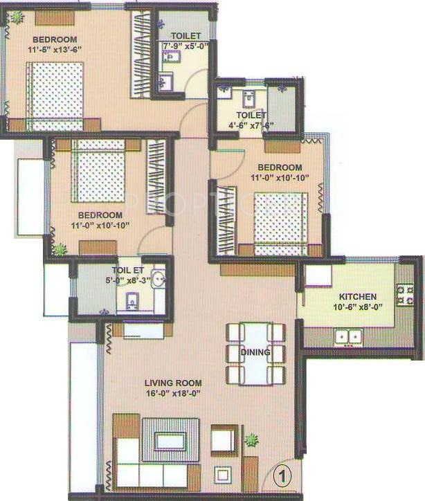 1300 sq ft 2 bhk 2t apartment for sale in dev land housing for Cost to build 1300 square foot house