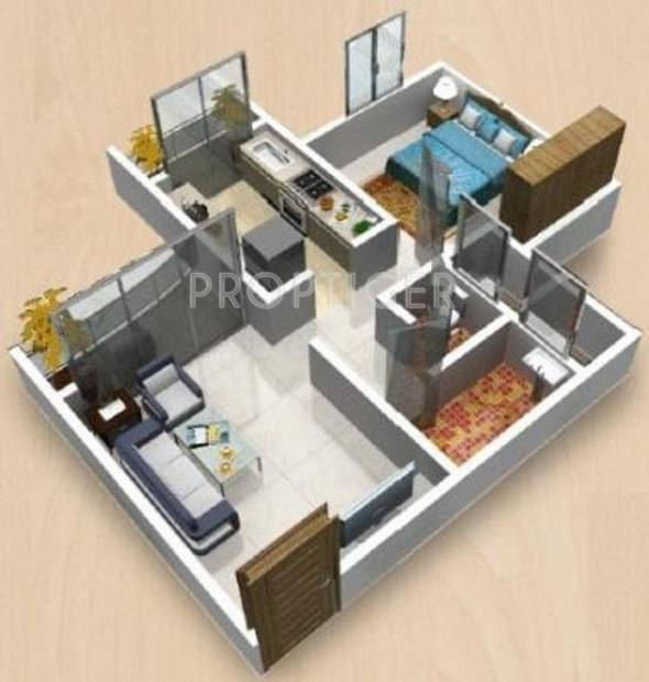 Space Piccadilly Green City (1BHK+1T (470 sq ft) 470 sq ft)