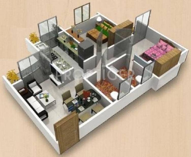 Space Piccadilly Green City (2BHK+2T (900 sq ft) 900 sq ft)