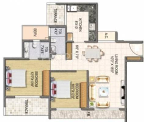 1100 Sq Ft 2 Bhk 2t Apartment For Sale In Keystone