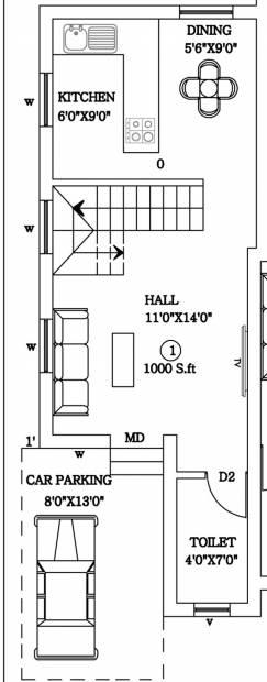 Sankar S And G Villa Phase II (2BHK+2T (1,000 sq ft) 1000 sq ft)