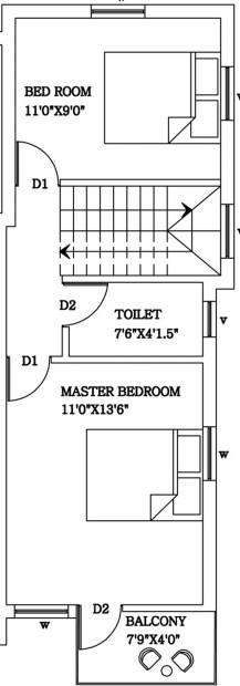 Sankar S And G Villa Phase II (2BHK+2T (1,010 sq ft) 1010 sq ft)
