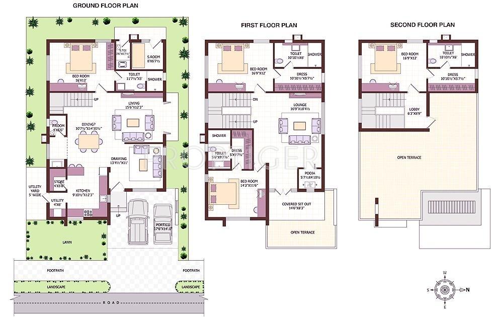 2500 sq ft 4 bhk 4t villa for sale in slv estates andal for 2500 sqft 4 bedroom house plans