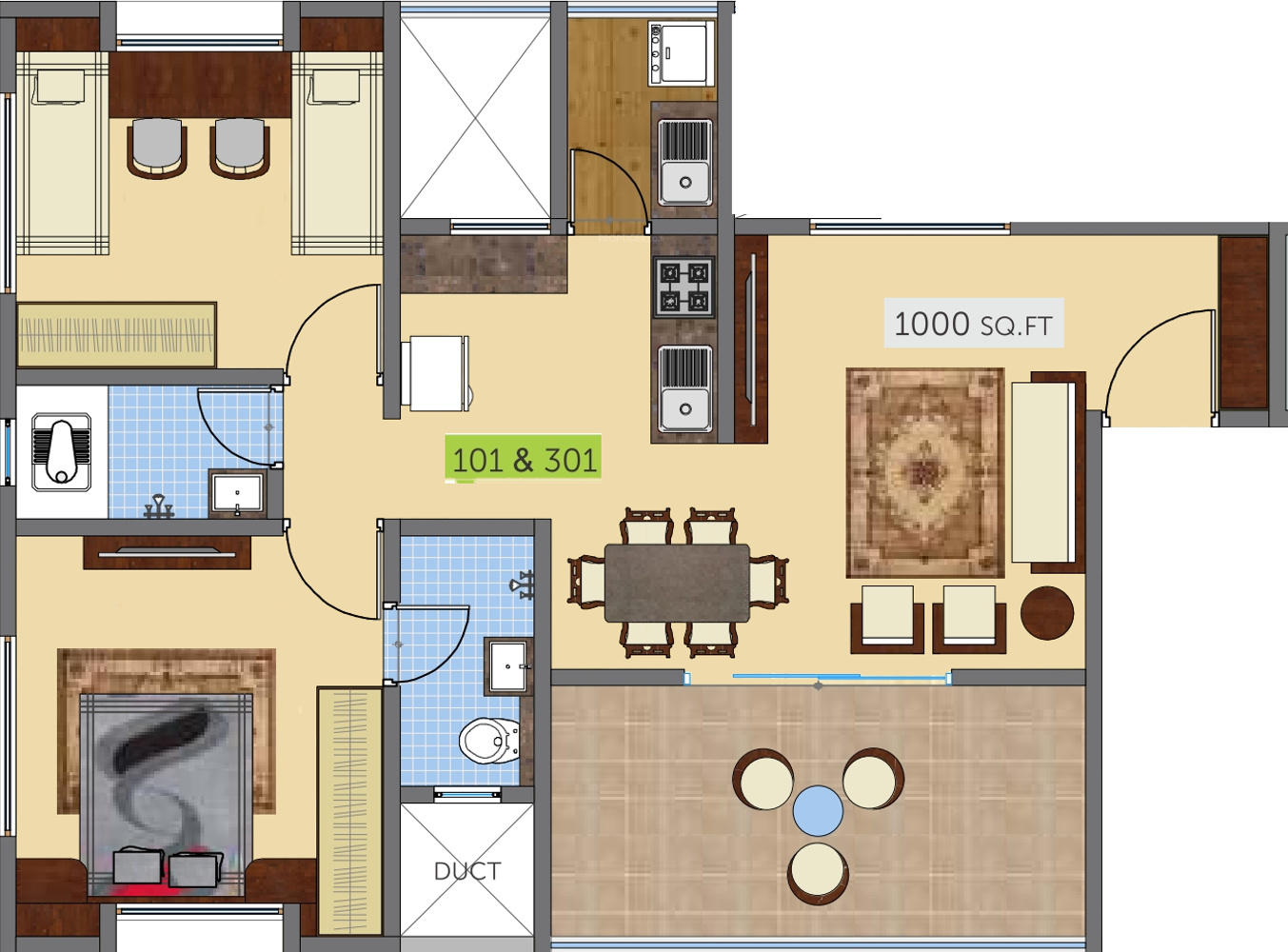 1000 sq ft 2 bhk 2t apartment for sale in swaraa nature for 1000 sq ft apartment