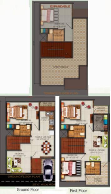 Kingson Green Villa (3BHK+3T (1,475 sq ft) 1475 sq ft)