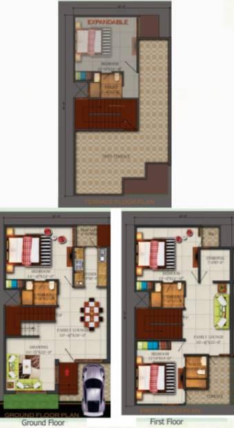 Kingson Green Villa (3BHK+3T (1,875 sq ft) + Pooja Room 1875 sq ft)