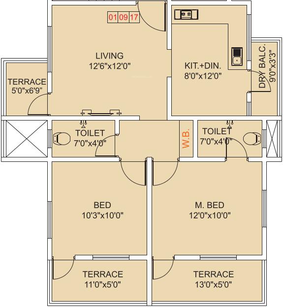 Shashwat residency by shashwat developers pune in ravet for X2 residency floor plan