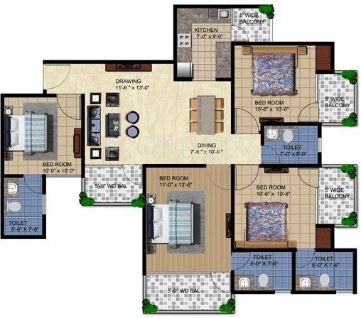Rajhans Residency (4BHK+4T (1,631 sq ft) 1631 sq ft)